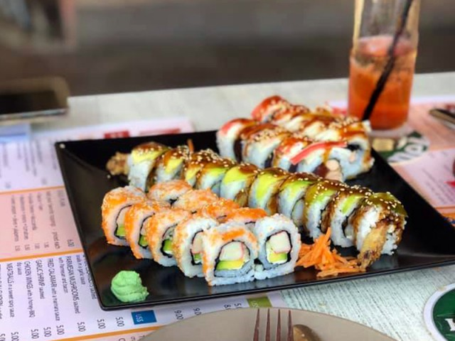 New at Salt & Pepper: sushi rolls!