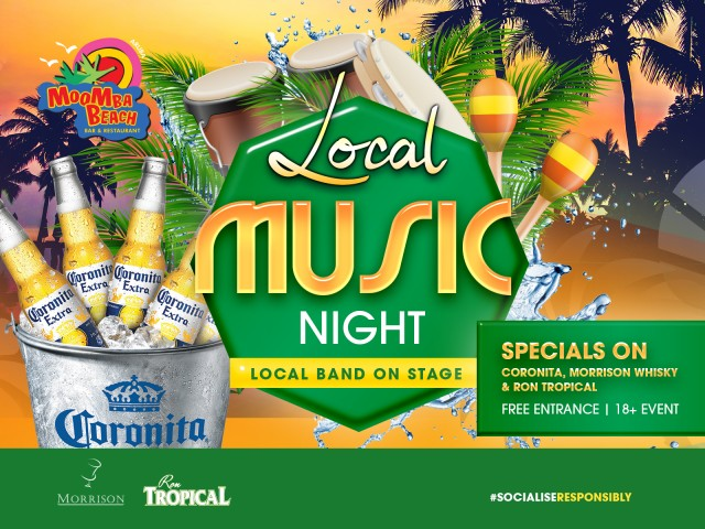 Local Music Night at MooMba Beach promises lots of fun!