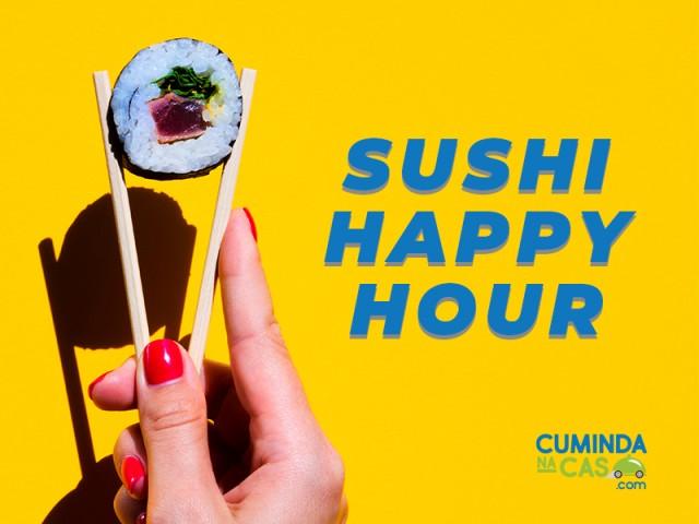 A Sushi Happy Hour at cumindanacas.com