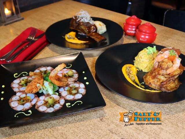 Octopus carpaccio on the special 3-course menu (45 florins)