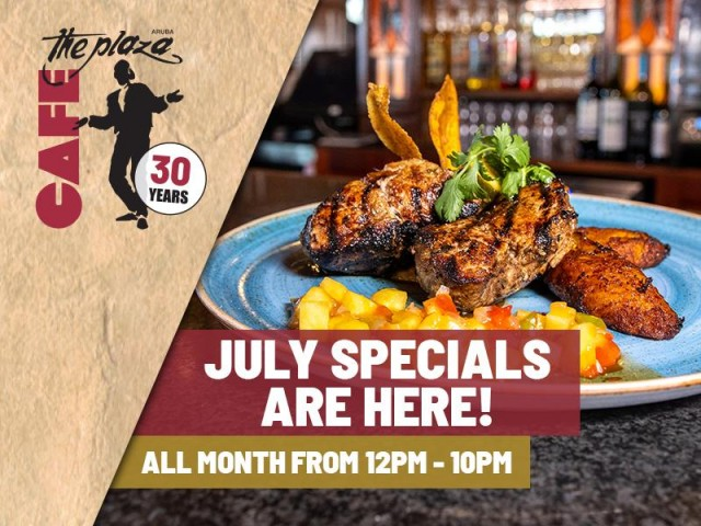 Café the Plaza's July special features a delicious variety