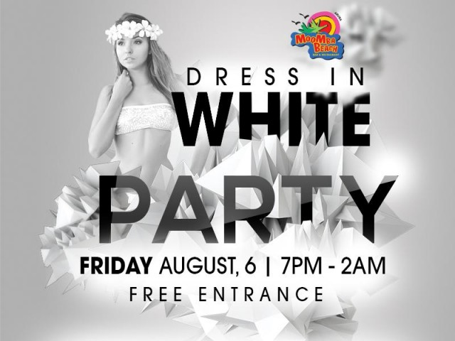 Dress in WHITE Party at MooMba Beach