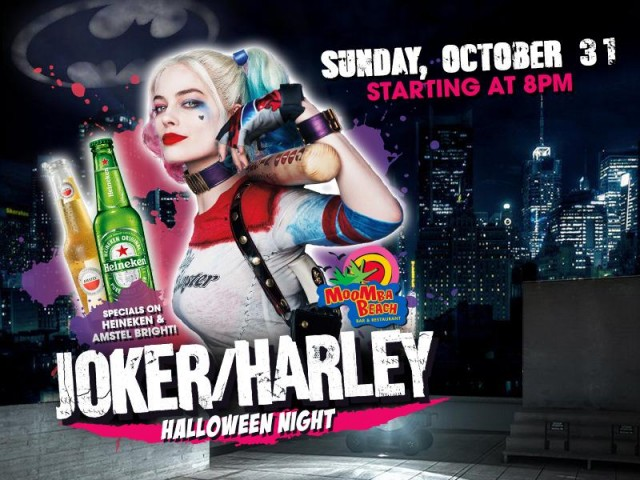 Harley Quinn and The Joker team up for MooMba Halloween Night!